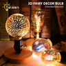 3D Fireworks Bulb G80/A60/ST64 E27 LED Retro Edison Glass Fairy Light Decor ADF