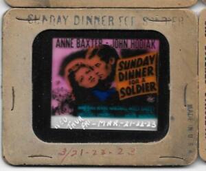 Sunday Dinner For A Soldier 1944 Vintage Glass Slide Anne Baxter John Hodiak