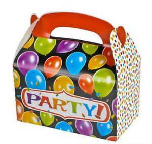 24 PARTY TREAT BOXES FAVORS GOODY BAGS BAZAAR PRIZE GIFT BASKET BABY SHOWER