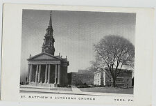 York PA St. Matthew's Lutheran Church Welcome AD Vintage Postcard