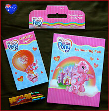 MY LITTLE PONY Colouring Book & Activity Pack / Set with Crayons Gorgeous - New