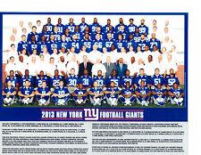 2013 NEW YORK GIANTS 8X10 TEAM PHOTO  FOOTBALL NFL USA HOF MANNING
