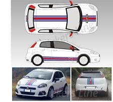 Fasce adesive Fiat Grande Punto MARTINI RACING Adesivi punto abarth strisce