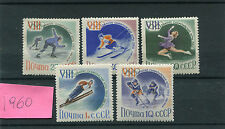 Urss 1960 serie olimpiade invernale di Squaw-Valley 2258-62 MNH