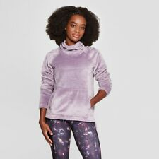 Women's Luxe Fleece Pullover - C9 Champion®   Smoked Lilac  XL - New with Tag