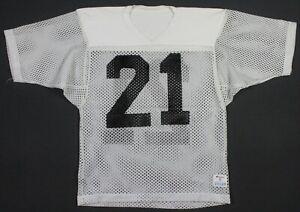 Vintage 80's Champion #21 Mesh Practice Jersey Small White/Black Raiders
