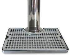 Non-Slip Heavy Duty Stainless Steel Drip Tray 3� Beer Tower Cutout Proper Pour