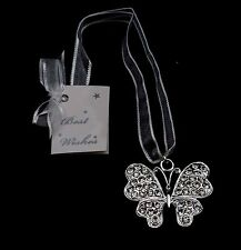Wedding/Bridal Keepsake/Horseshoe  Silver Diamante Butterfly