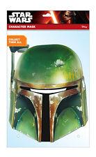 Boba Fett Star Wars officiel 2D fête CARTE Déguisement MASQUE Bounty Hunter