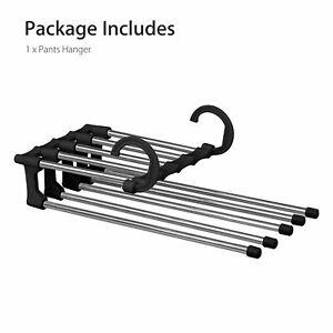 Pants trousers rack shelves steel multi-functional wardrobe magic hanger clip