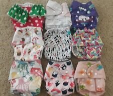 New ListingCloth Diaper Lot Of 9 Girly Cute Fun Patterns+ Wet Bag