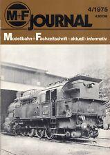 catalogo M+F Merker + Fischer Journal 4/1975 Modellbahn + Fachzeitschrift  D  bb