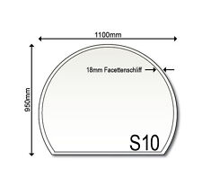 Glasbodenplatte S10 Ofenplatte 950 x 1100 mm Funkenschutz Glas Neu Kaminplatte