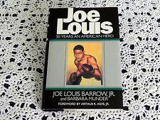 Joe Louis by Joe Louis Barrow and Barbara Munder SIGNED by Munder Boxing HC