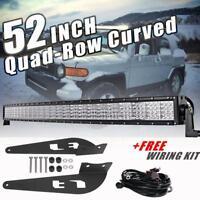 52inch 3600W Quad-Row CREE LED Light Bar Mount Bracket For Toyota FJ Cruiser