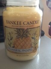 yankee candle williamsburg pineapple hard to find large jar