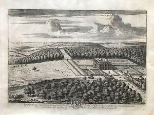 1708 Antique Print; Rare & Large; Uppark, Petersfield, Sussex - Knyff & Kip