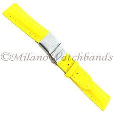 18mm Morellato Ocean Yellow Nylon Material Adjustable Clasp W/ Safety Band 1454