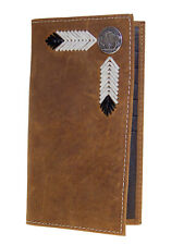 Nocona Mens Western Rodeo Wallet Buffalo Nickel 11 Credit Card Brown