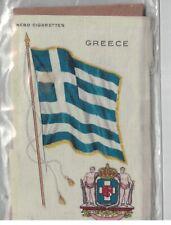 Vintage Nebo Cigarettes Silk Flag of Greece