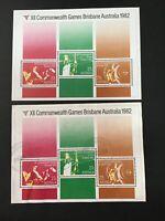 Australian 1982-12th Commonwealth Games Brisbane pair of Mini Sheet MNH