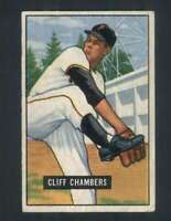 1951 Bowman #131 Cliff Chambers EX/EX+ Pirates 104723