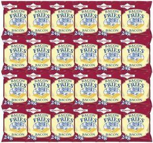 Smiths Savoury Snacks Bacon Fries 24g Box of 24 Tasty Pub Favorites BBE 23/10/21