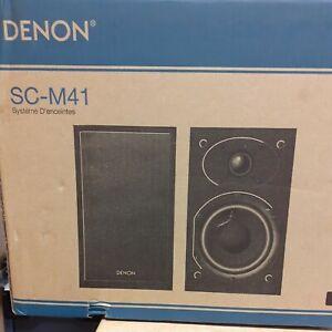 Denon Speakers SC-M41. NEW IN BOX.un used