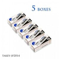 FEATHER PROGUARD PG-15 razor blades 15pcs*5boxes Japan F/S with Tracking