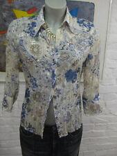VARENA wunderschöne Chiffon Bluse Hemd Gr.38, Mehrfarbig Muster Floral, 3/4 Arm