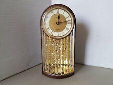 Vintage Anniversary Kundo Clock Pendulum Creates Bubble illusion Mantle Battery