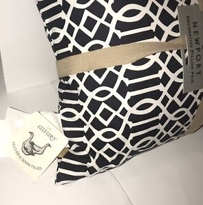 Newport-Black and White Decorative Pillow-1 Indoor/Outdoor Throw Pillow NEW!