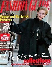 WEIGHT WATCHERS FASHION GUIDE Fall/Winter 1990 w/Vogue and Butterick Patterns