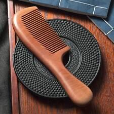Natural Peach Wood Comb Close Teeth Anti-static Hair Care Wooden Tools Beauty UK