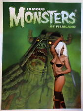 Famous Monsters Filmland POSTER - HEAVY METAL Corben Cover art HAND SIGNED