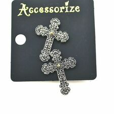 Accessorize Pretty Celtic Cross Design Earrings/Ear Pins - UK Seller / UK Stock