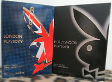 PLAYBOY PLAY BOY HOLLYWOOD + LONDON COMBO 2 TWO BOTTLES 3.4 OZ SPRAY FOR MEN