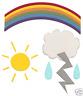 QuicKutz 4X4 Duo Die ~ WEATHER Rainbow,Lightening,Cloud -0179