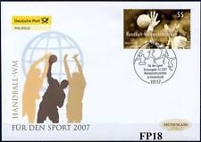 FRG 2007: World Handball Championship! post-sport-fdc no. 2578 with Berlin