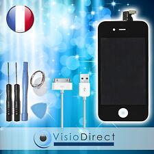 Vitre tactile ecran LCD sur chassis pour iPhone 4 noir + cable USB iPhone 4