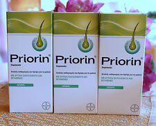 PRIORIN BAYER  Anti Hair loss 3XSHAMPOO for greasy oily hair,  3x200ml=600ml