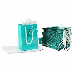 Lot 50 gift bags paper kraft envelope jewelry 12x4x21 green anis nine