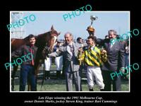 LARGE HISTORIC HORSE RACING PHOTO OF LETS ELOPE, 1991 MELBOURNE CUP WINNER 1