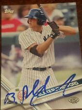 blake rutherford signed 2017 pro debut autographed 17 card auto new york yankees