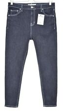 Topshop SUPER SKINNY JAMIE High Rise Blue Indigo CONTRAST Jeans 14 W32 L30