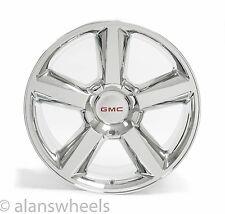"NEW GMC Sierra Yukon Denali Chrome 22"" Wheels Rims Gold Bowtie 5308"