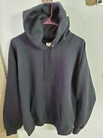 "Hanes Men's Ultimate Cotton Heavyweight Fleece Hoodie Black Size M 44""Chest/26L"