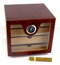 Humidor Schrank Angelo Cabinett braun ca 60 Zigarren Acrylpolymere-Befeuchter