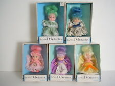 RARE SET OF 5  PEE WEE DOLLS VINTAGE 1973 UNEEDA PEE WEE DEBUTANTES LOVELY DOLLS