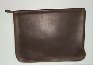 Vintage Leather L-Zip Portfolio Document Holder